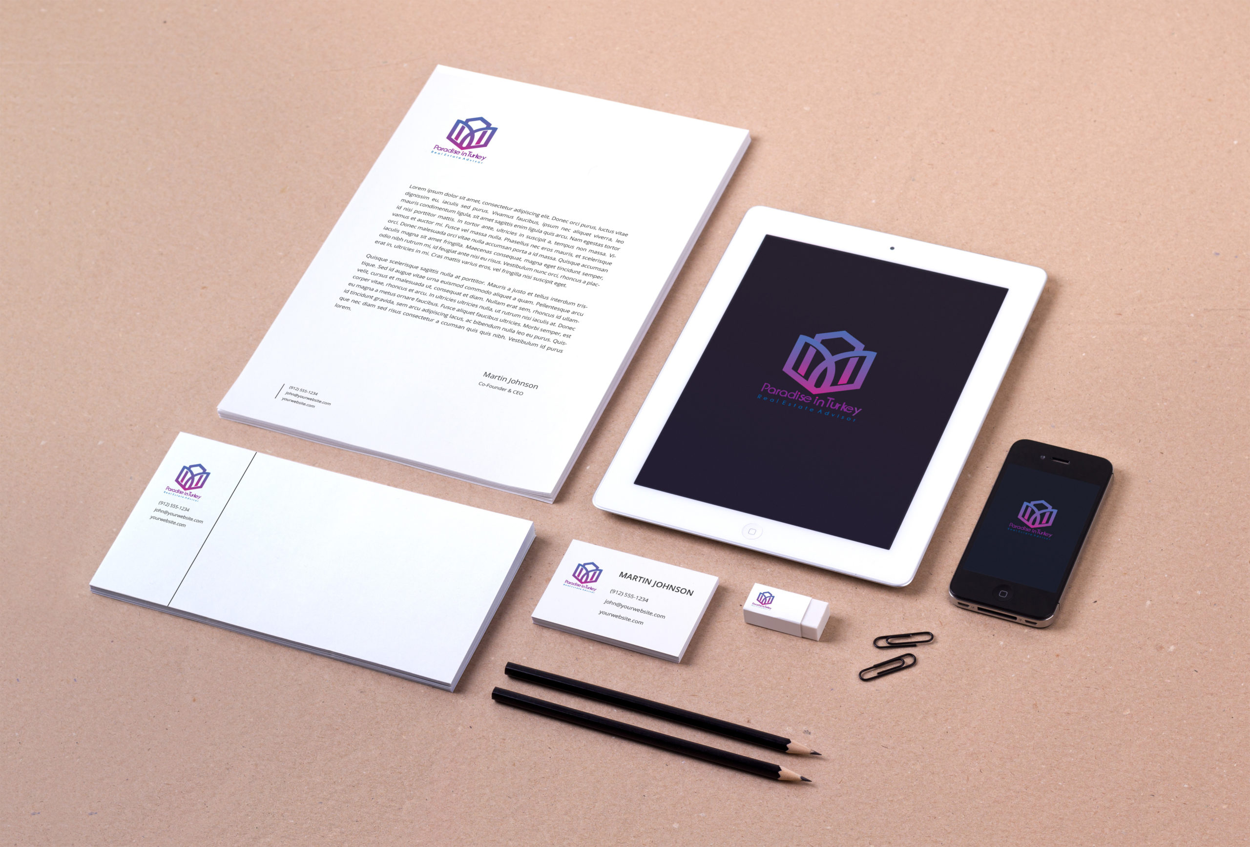 Branding-Identity for Paradise in Turkey Project